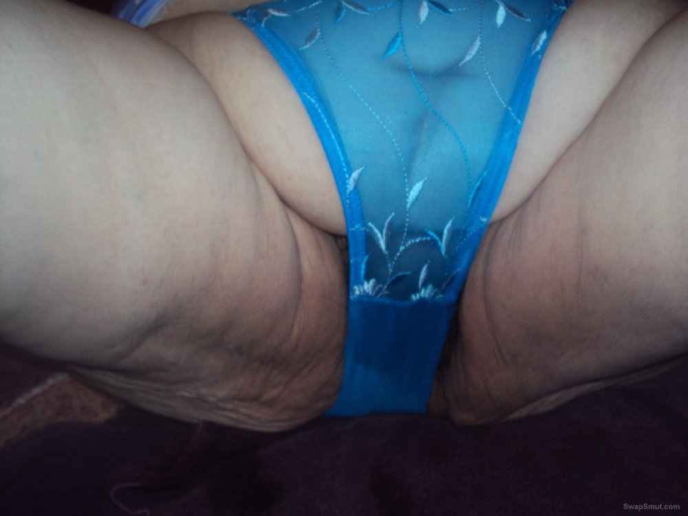 mature bbw showing off my wet blue panties