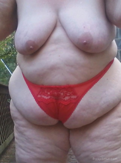 Wearing panties exposing myself outside