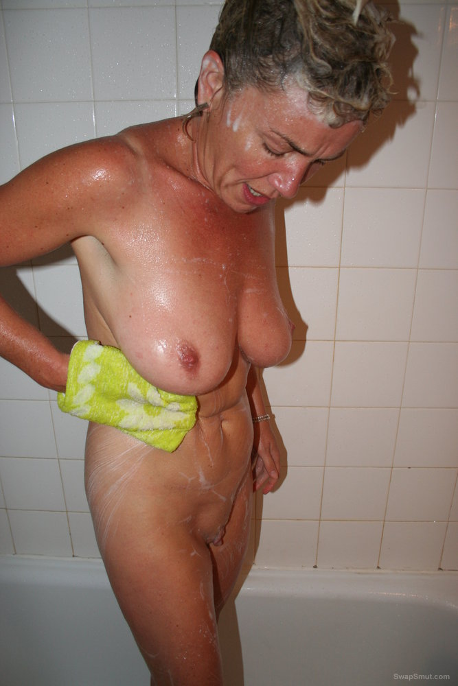 Shaving my pussy in the shower for