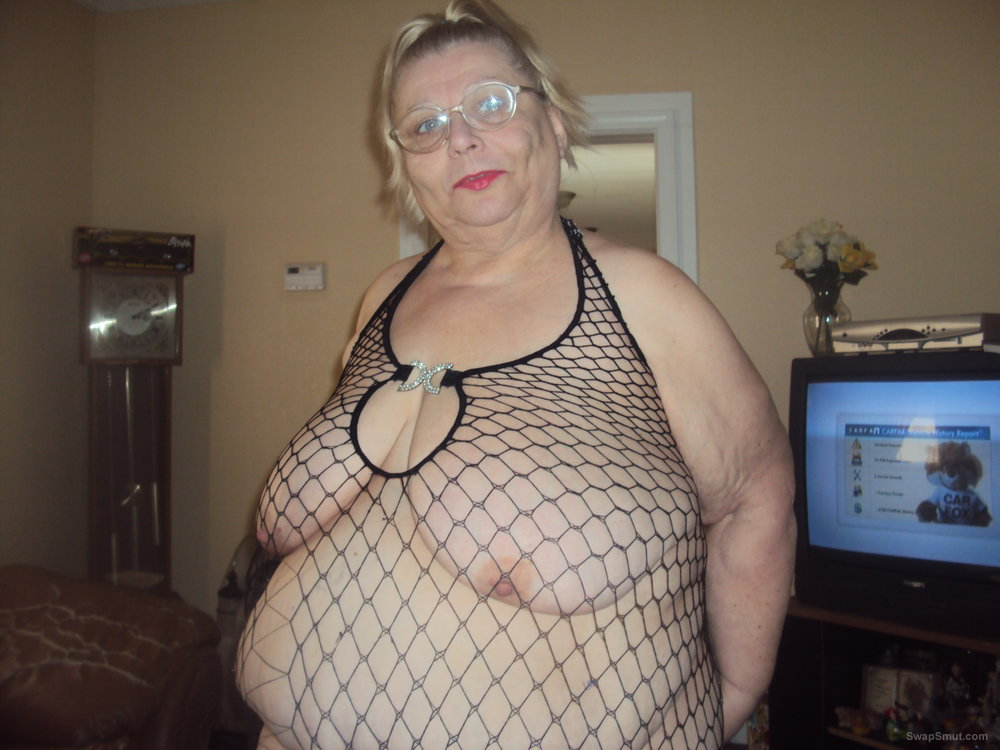 showing off in fishnet pantie hose mature amateur bbw