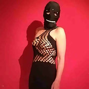This guy got Anna dressed up and hooded before he had her for BDSM sex