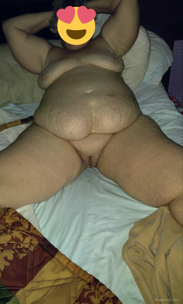 56 year old wife showing off her big ass and shaved pussy and huge tits