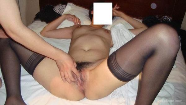 I am fucked hard in the hotel with black silk stockings creampie full