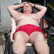Sunbathing 2 the warm sunrays make me hot