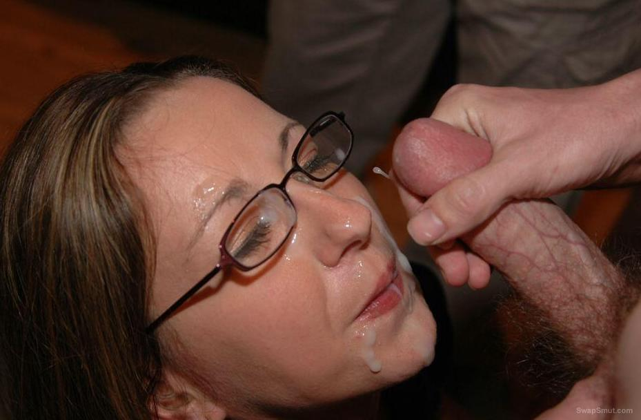 cum craving slut CARLY getting jizz all over her face after sucking