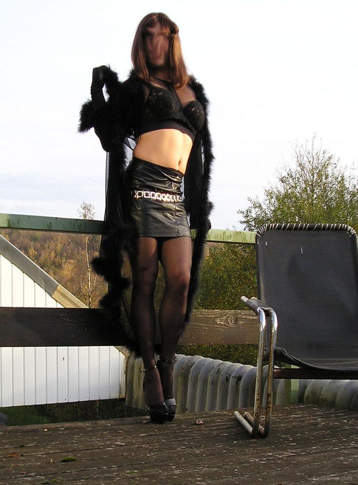 Nylon lingerie high heels tranny sperm and pussy lover cross dresser