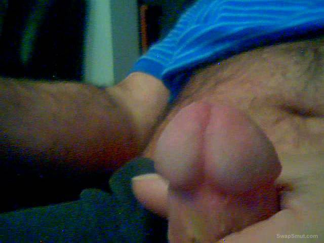 Another wanking session massaging my cock cum dripping