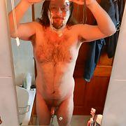 Bathroom mirror nude selfies, wet and slippery
