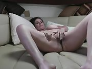 Mature wife getting her tits out and fucked in cabin on our boat