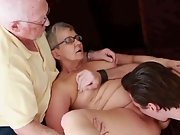Aged mature couple first time swinging