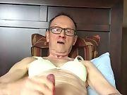 Exposed Faggot Pervert Slut In Bra, Wears Red Fingernail Polish And Jacks Off