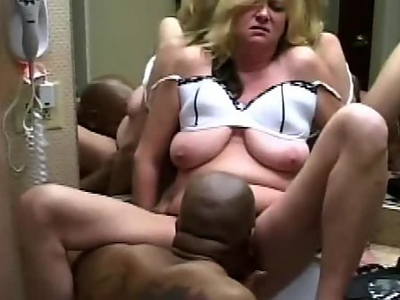 Blonde deep fucked mature movie wife