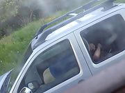 Milf getting fucked in driveway