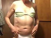 Exposed Faggot Pervert Slut Tranny Pulls Down Panties