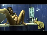 Sexy Jessy Squirting in the Bathroom for Me Playing With Her Pussy
