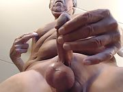 Masturbating and cumming while watching myself on the screen