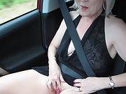 Theresa Having Fun on the Loch Lomond Road
