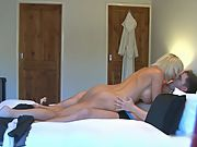 Young stud is lucky to fuck an incredible sexy busty housewife