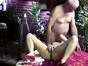 PRETTY YOUNG REDHEAD ON THE TABLE WITH HANDJOB AND BLOWJOB