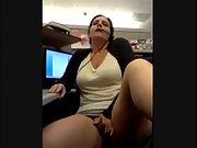 Call center specialist masturbating at work