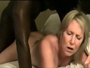Dirty mature blonde taken in front of husband by massive black cock