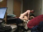 Hot Asian girlfriend screwed by white lover on hidden camera