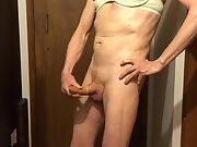Exposed Faggot Pervert Slut Fills Cumbag