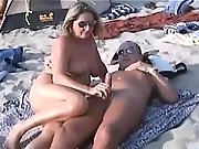 Shameless amateur women taking care of their horny men's needs in public