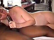 Short haired brunette wife blacked on camera