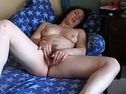 Hairy pussy masturbation
