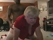Amateur flick of a mature who just loves the black meat