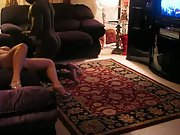 Hubby watches wife with friend before joining in