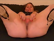 Sexy amateur bbw masturbation video with toys includes anal