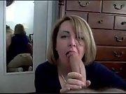 Big cock blowjob in the bedroom