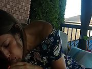 Hot latina neighbour sucking and swallowing