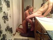 Shooting a porno with my girlfriend in the bathroom