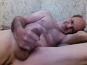Stroking my hard cock and edging for hours