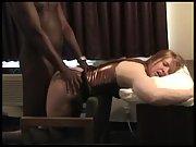 Black bull destroying his white female slave's pussy