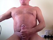 Hunky guy milking his hot wet sticky cock