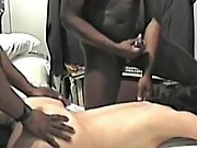 Cuckold wife so exicted to have two blacks pleasure her