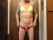 Exposed Faggot Pervert Slut Bends Over Spreads Cheeks