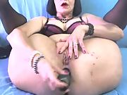 Hot mature playing with her pussy thinking of BBC
