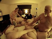 Fat chubby mature gangbang older swingers showing they still do it