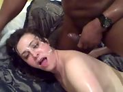 Cum all over my wife's sexy face