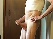 Exposed Faggot Pervert Slut Exposes Asshole And Boner