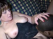 Mature wife screwing black with thick cock