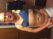 Fag Tranny Pervert Panty Waist Exposed Wearing Bra and Panty and Rubber