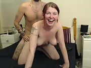 British slut fucking, ass and tits spanked for webcam tokens