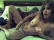Horny milf masturbating on webcam to viewers
