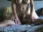 Busty wife riding